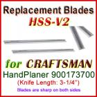Set of 2 HSS Blades for Craftsman 3'' Handheld Planer, 900173700