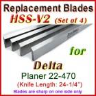 Set of 4 HSS Blades for Delta 24'' Planer, 22-470
