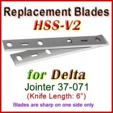 Set of 2 HSS Blades for Delta 6'' Jointer, 37-071