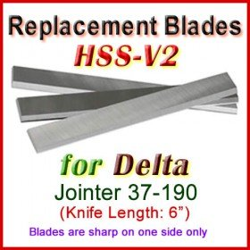 Set of 3 HSS Blades for Delta 6'' Jointer, 37-190