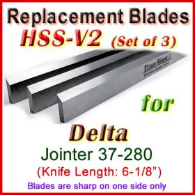 Set of 3 HSS Blades for Delta 6'' Jointer, 37-280
