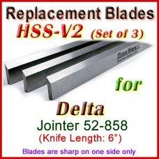 Set of 3 HSS Blades for Delta 6'' Jointer, 52-858