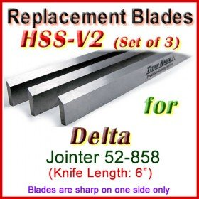 Set of 3 HSS Blades for Delta 6'' Jointer, 52-858