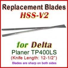 Set of 2 HSS Blades for Delta 12-1/2'' Planer, TP400LS