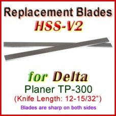 Set of 2 HSS Blades for Delta 13'' Planer, TP300