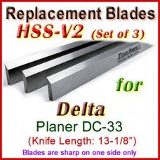 Set of 3 HSS Blades for Delta 13'' Planer, DC-33