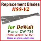 Set of 3 HSS Blades for DeWalt 12-1/2'' Planer, DW-734