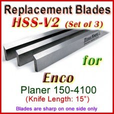 Set of 3 HSS Blades for Enco 15'' Planer, 150-4100
