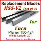 Set of 4 HSS Blades for Enco 20'' Planer, 150-424