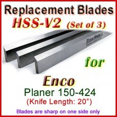 Set of 4 HSS Blades for Enco 20'' Planer, 150-424