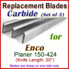 Set of 4 Carbide Blades for Enco 20'' Planer, 150-424