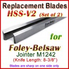 Set of 2 HSS Blades for Foley-Belsaw 8'' Jointer, M1242