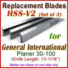 Set of 3 HSS Blades for General International 13'' Planer, 30-100