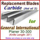 Set of 4 Carbide Blades for General International 20'' Planer, 30-300
