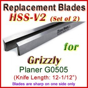 Set of 2 HSS Blades for Grizzly 12-1/2'' Planer, G0505