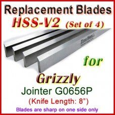 Set of 4 HSS Blades for Grizzly 8'' Jointer, G0656P