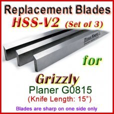 Set of 3 HSS Blades for Grizzly 15'' Planer, G0815