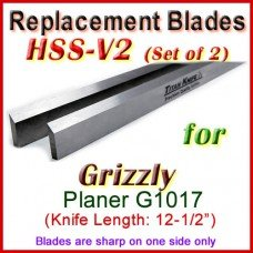 Set of 2 HSS Blades for Grizzly 12'' Planer, G1017