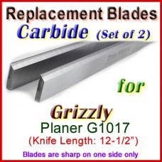 Set of 2 Carbide Blades for Grizzly 12'' Planer, G1017