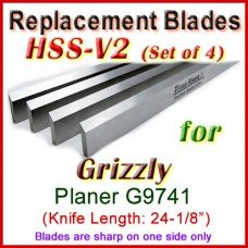 Set of 4 HSS Blades for Grizzly 24'' Planer, G9741