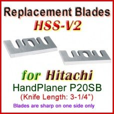 Set of 2 HSS Blades for Hitachi 3'' Handheld Planer, P20SB