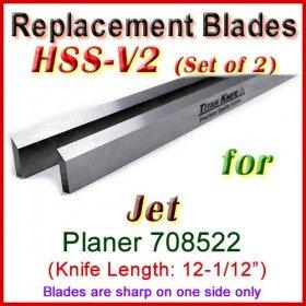 Set of 2 HSS Blades for Jet 12-1/2'' Planer, 708522