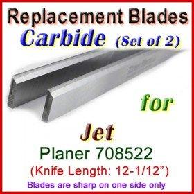 Set of 2 Carbide Blades for Jet 12-1/2'' Planer, 708522