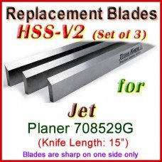 Set of 3 HSS Blades for Jet 15'' Planer, 708529G