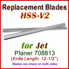 Set of 2 HSS Blades for Jet 12-1/2'' Planer, 708813
