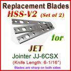Set of 3 HSS Blades for Jet 6'' Jointer, JJ-6CSX (w. Quick Change Head)