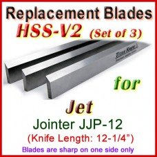 Set of 3 HSS Blades for Jet 12'' Jointer, JJP-12
