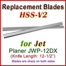 Set of 2 HSS Blades for Jet 12-1/2'' Planer, JWP-12DX