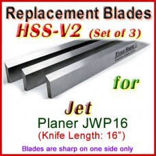 Set of 3 HSS Blades for Jet 16'' Planer, JWP16