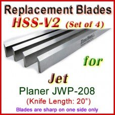 Set of 4 HSS Blades for Jet 20'' Planer, JWP-208