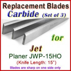 Set of 3 Carbide Blades for Jet 15'' Planer, JWP-15HO