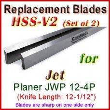 Set of 2 HSS Blades for Jet 12-1/2'' Planer, JWP 12-4P
