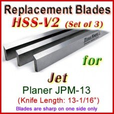 Set of 3 HSS Blades for Jet 13'' Planer, JPM-13