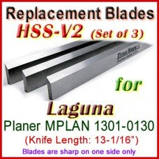 Set of 3 HSS Blades for Laguna 13'' Planer, MPLAN 1301-0130