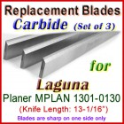 Set of 3 Carbide Blades for Laguna 13'' Planer, MPLAN 1301-0130