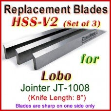 Set of 3 HSS Blades for Lobo 8'' Jointer, JT-1008