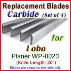Set of 4 Carbide Blades for Lobo 20'' Planer, WP-0020