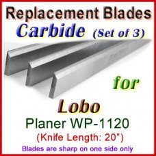 Set of 3 Carbide Blades for Lobo 20'' Planer, WP-1120