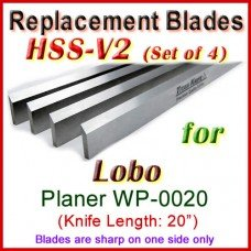 Set of 4 HSS Blades for Lobo 20'' Planer, WP-0020