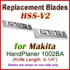 Set of 2 HSS Blades for Makita 4-1/2'' Handheld Planer, 1002BA