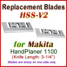 Set of 2 HSS Blades for Makita 3'' Handheld Planer, 1100