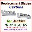 Set of 2 Carbide Blades for Makita 3'' Handheld Planer, 1100