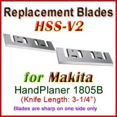 Set of 2 HSS Blades for Makita 4-1/2'' Handheld Planer, 1805B