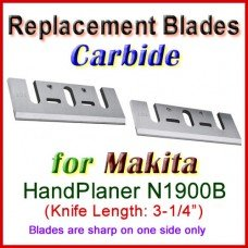 Set of 2 Carbide Blades for Makita 3'' Handheld Planer, 1900B
