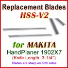 Set of 2 HSS Blades for Makita 3'' Handheld Planer, 1902X7