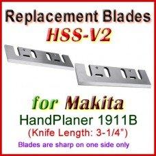 Set of 2 HSS Blades for Makita 4-1/2'' Handheld Planer, 1911B